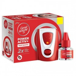 GOOD KNIGHT POWER ACTIV+ COMBI PACK, 45 ML 1 MOSQUITO DESTROYER MACHINE + 1 REFILL
