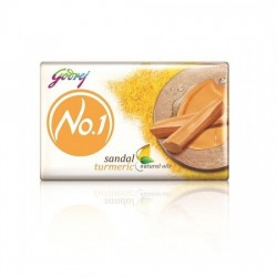 GODREJ NO 1 BATHING SOAP - (SANDAL AND TURMERIC), 100G PACK OF 4