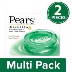 PEARS OIL CLEAR & GLOW SOAP BAR, 2X75 G