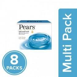 PEARS SOFT & FRESH SOAP BAR, 8X75 G