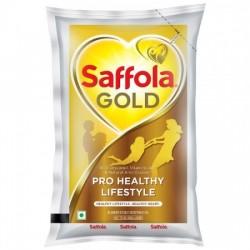 SAFFOLA GOLD - PRO HEALTHY LIFESTYLE EDIBLE OIL, 1 L POUCH
