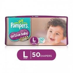 PAMPERS ACTIVE BABY LARGE - 50 DIAPER PANTS