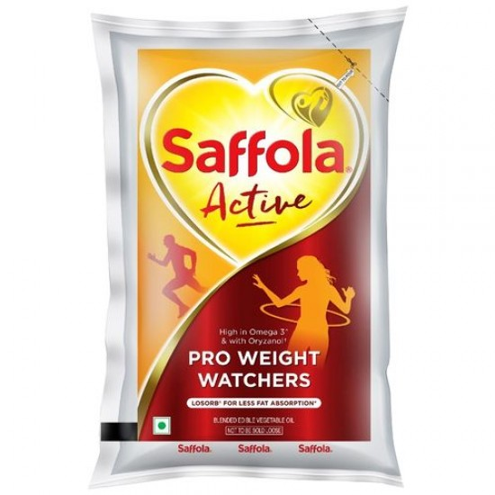 SAFFOLA ACTIVE - PRO WEIGHT WATCHERS EDIBLE OIL, 1 L POUCH