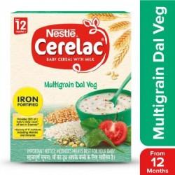 NESTLE CERELAC FORTIFIED BABY CEREAL WITH MILK, MULTIGRAIN DAL VEG 300G.