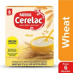 NESTLE CERELAC FORTIFIED BABY CEREAL WITH MILK, WHEAT 300G.
