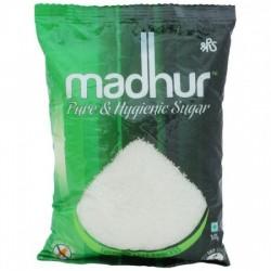 MADHUR SUGAR - REFINED, 1 KG POUCH