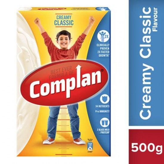 COMPLAN GROWTH DRINK MIX - CREAMY CLASSIC FLAVOUR, 500 G