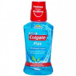 COLGATE PLAX MOUTHWASH - PEPPERMINT FRESH, 250 ML