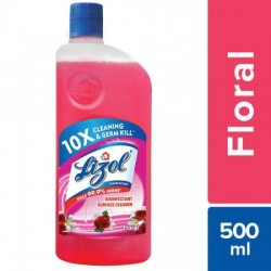 LIZOL DISINFECTANT SURFACE CLEANER - FLORAL, 500 ML
