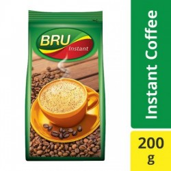 BRU INSTANT COFFEE, 200 G POUCH