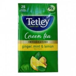 TETLEY GREEN TEA - GINGER MINT LEMON, 109 G