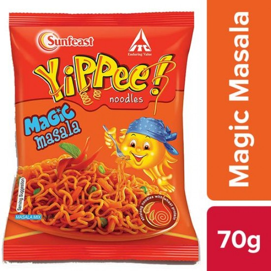 SUNFEAST YIPPEE MAGIC MASALA NOODLES, 60 G POUCH