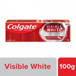 COLGATE TOOTHPASTE - VISIBLE WHITE, DAZZLING WHITE, SPARKLING MINT, 100 G