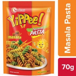 SUNFEAST YIPPEE TRICOLOR PASTA - MASALA, 70 G POUCH