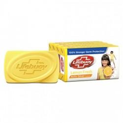 LIFEBUOY SOAP BAR - LEMON FRESH, 125 GM EACH PACK OF 4