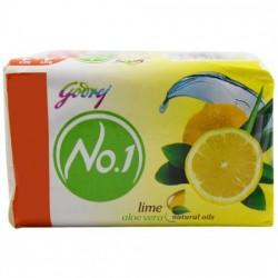 GODREJ NO 1 BATHING SOAP - LIME & ALOE VERA, 100G PACK OF 4