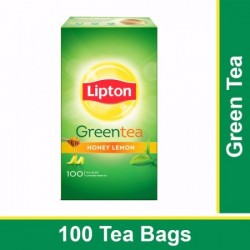 LIPTON GREEN TEA BAGS - HONEY LEMON, 140 G