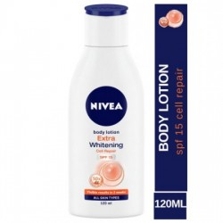 NIVEA BODY LOTION - EXTRA WHITENING CELL REPAIR SPF 15, 120 ML