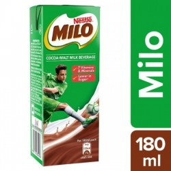 NESTLE MILO COCOA-MALT MILK BEVERAGE - GRAB & GO PACK, 180 ML