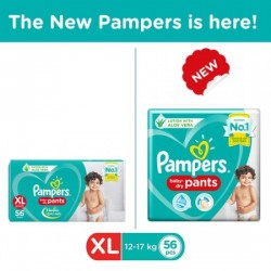 PAMPERS NEW XTRA LARGE - 56 DIAPER PANTS