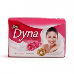 DYNA, ROSE EXTRACT & MILK CREAM, 100 G.(PACK OF 4)