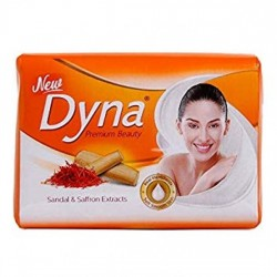 DYNA SOAP, SANDAL & SAFFRON EXTRACT , 100G.(PACK OF 4)