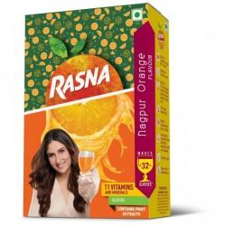 RASNA FRUIT FUN 32 GLASS MONOCARTON, NAGPUR ORANGE - PACK OF 5
