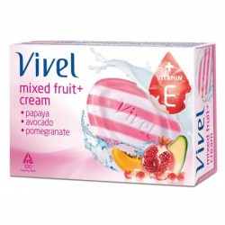 VIVEL MIXED FRUIT AND CREAM SOAP, 100G